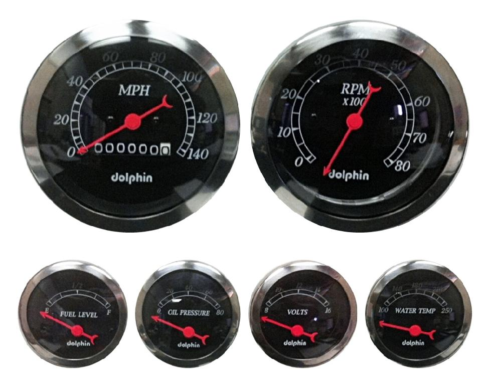 Mechanical boost gauges and electric boost, EGT and transmission temperature gauges. Featuring a black face with silver bezel and bright backlighting, these gauges.